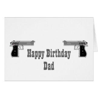 Cartão da arma do feliz aniversario