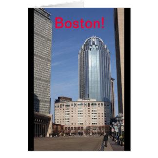 Cartão da arquitectura da cidade de Boston