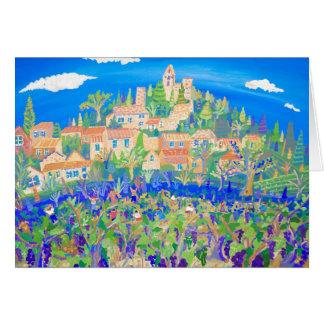 Cartão da arte: A colheita da uva, Rasteau,