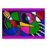 Cartão da arte abstracta