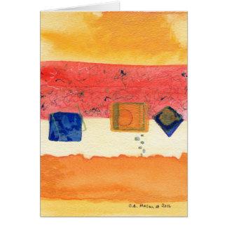 Cartão da arte abstracta da metamorfose