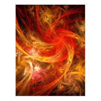 Cartão da arte abstracta da nova do incêndio