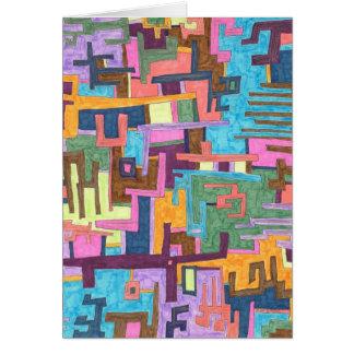 """Cartão da arte abstracta dos """"trajetos"""""""