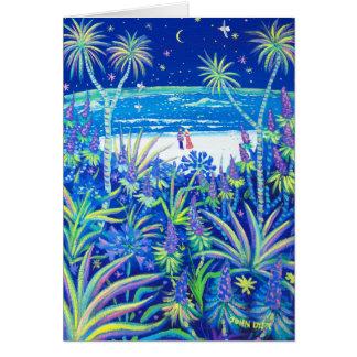 Cartão da arte: Amor do jardim da casa de campo da