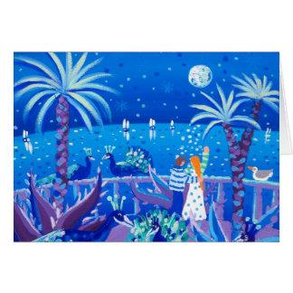 Cartão da arte: Amor do pavão do Saphire, d'Azur