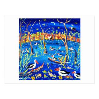 Cartão da arte: Capoeira do pelicano, estação de