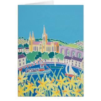 Cartão da arte: Céu azul Truro por Joanne curta