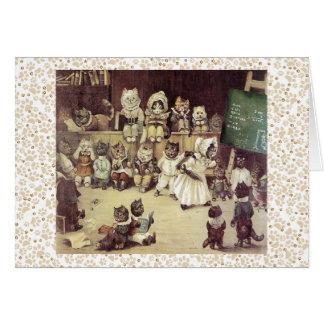 Cartão da arte da academia do gato de Louis Wain