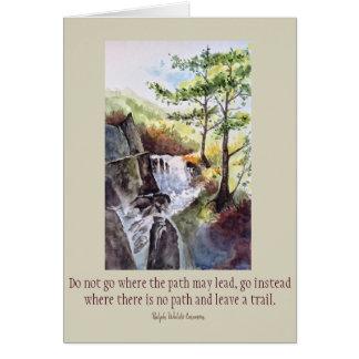 Cartão da arte da aguarela das citações de Emerson