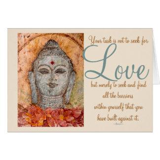 Cartão da arte da aguarela de Buddha do amor de