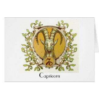 Cartão da arte da antiguidade do zodíaco do