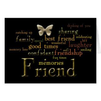 Cartão da arte da palavra do amigo