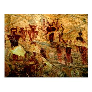 Cartão da arte da rocha de Utá