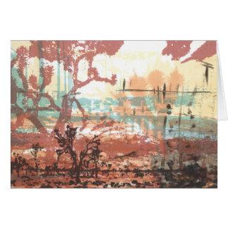 Cartão da arte das árvores de Joshua do deserto de