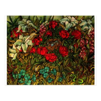 Cartão da arte de Carr do azevinho