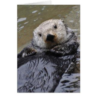 Cartão da arte de Frameable da lontra de mar