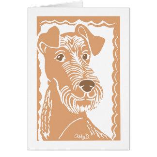 Cartão da arte de Terrier irlandês
