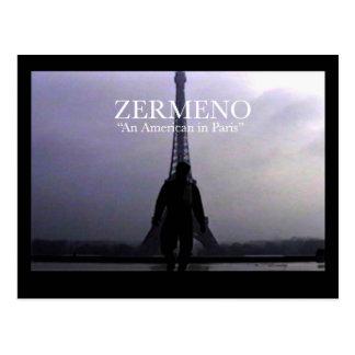 """Cartão da arte de Zermeno """"americano em Paris"""" Cartão Postal"""