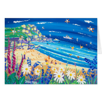 Cartão da arte: Deleites secretos do beira-mar.