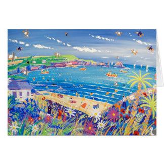 Cartão da arte: Divertimento da família, a baía de