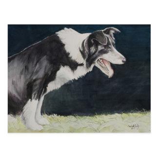 Cartão da arte do cão de border collie