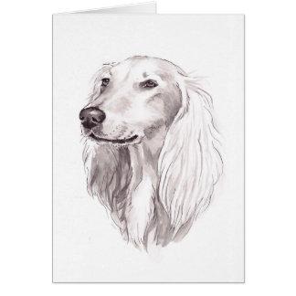 Cartão da arte do cão de Saluki