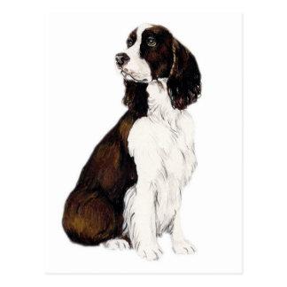 Cartão da arte do cão do Spaniel de Springer