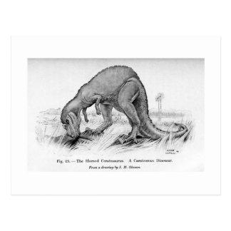 Cartão da arte do Ceratosaurus