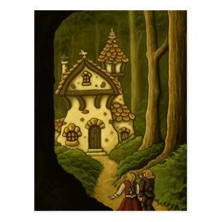 Cartão da arte do conto de fadas de Hansel & de