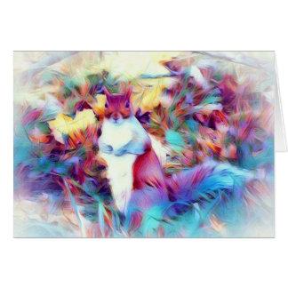 cartão da arte do esquilo