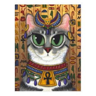 Cartão da arte do gato de Bastet do egípcio da