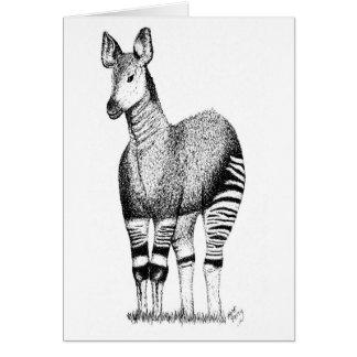 Cartão da arte do Okapi