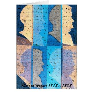 Cartão da arte do perfil de Richard Wagner