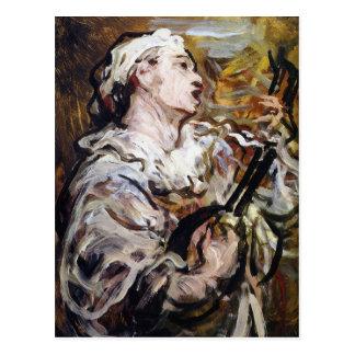Cartão da arte do Pierrot de Daumier