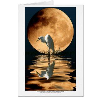 Cartão da arte dos animais selvagens da lua do