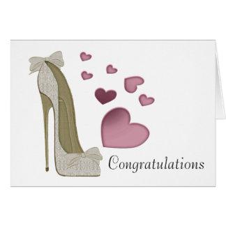 Cartão da arte dos calçados do estilete dos