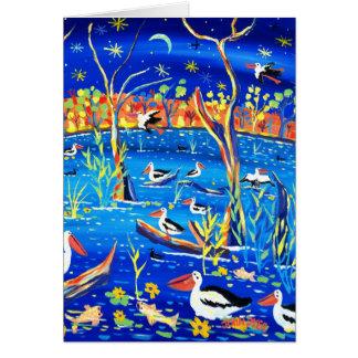 Cartão da arte: Estação de Banrock, capoeira do