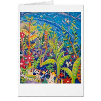 Cartão da arte: Floresta húmida. Projeto de Eden