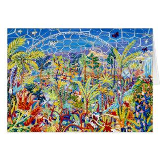 Cartão da arte: Jardim do Éden. O projeto de Eden,
