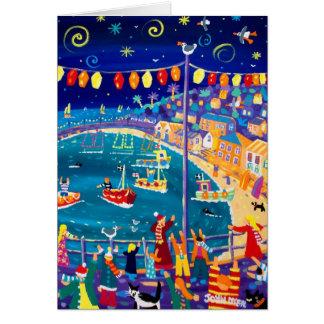 Cartão da arte: Lanternas e luzes, Mousehole