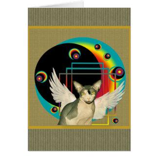 Cartão da arte moderna do anjo do cartão | Sphynx