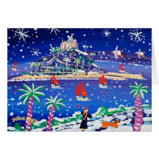 Cartão da arte: Navigação através da neve