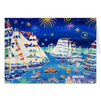Cartão da arte: Navios altos e navios pequenos