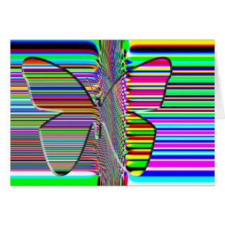 Cartão da ARTE OP da borboleta
