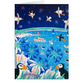 Cartão da arte: Papagaio-do-mar de Scilly