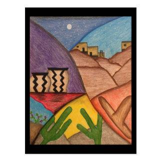Cartão da arte popular do sudoeste do deserto