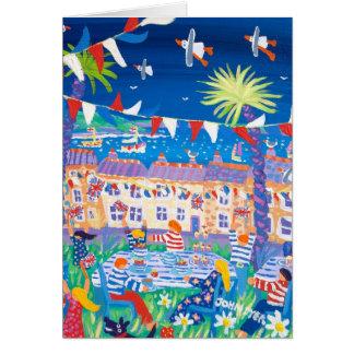 Cartão da arte: Tea party do jubileu do beira-mar