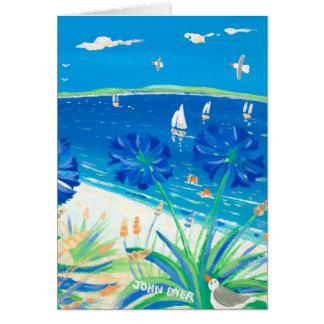 Cartão da arte: Tendo um mergulho, baía de Pentle