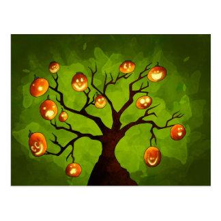 Cartão da árvore da abóbora