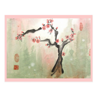 Cartão da árvore de ameixa